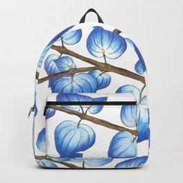 Breezy Blue Leaves Backpack