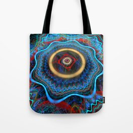 Grunge Colourful Whirly Abstract Tote Bag