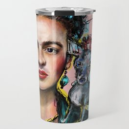 Frida + Perrito Travel Mug