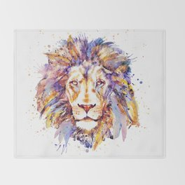 Lion Head Throw Blanket
