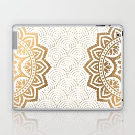 Gold Mandala 13 Laptop & iPad Skin