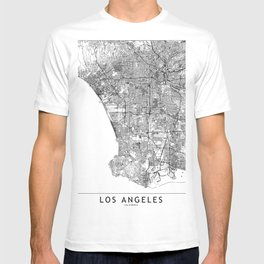Los Angeles White Map T-shirt