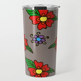 floes rojas 1 Travel Mug