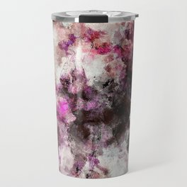 Modern Abstract Painting in Purple and Pink Tones Travel Mug