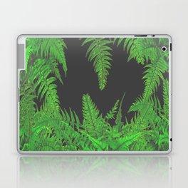 DECORATIVE CHARCOAL GREY GREEN FERNS GARDEN ART Laptop & iPad Skin