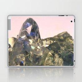 Blue Celestite Crystals Quartz Aura Said to Reduce Stress Laptop & iPad Skin