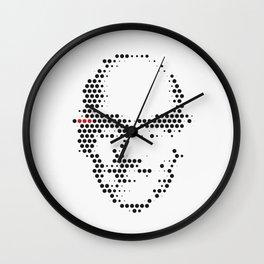 Foucault in Dots Wall Clock