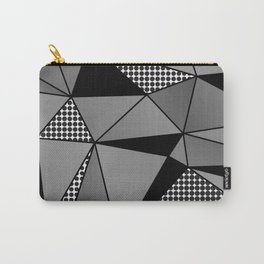 Monochrome Polygons Carry-All Pouch