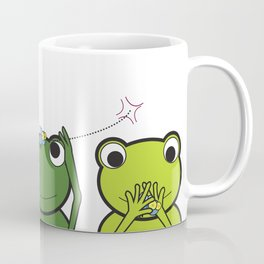See no evil, Hear no evil, Speak no evil - Frogs Coffee Mug