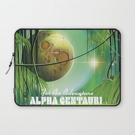 "Alpha Centauri Swamp ""Adventure"" vintage Sci-Fi travel poster Laptop Sleeve"
