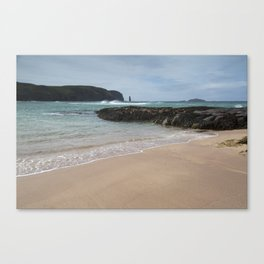 Sandwood Bay with Sea Stack Canvas Print