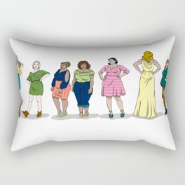 Fashion Line Up Rectangular Pillow