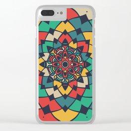 Color full bloom mandala Clear iPhone Case