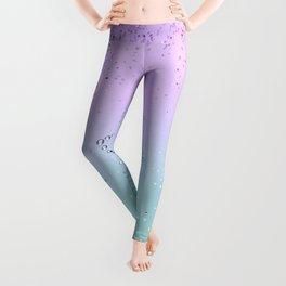 Sparkling MERMAID Glitter Star #1 #decor #art #society6 Leggings