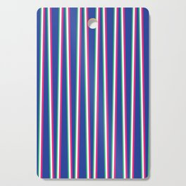 Between the Trees - Blue, Pink & Green #571 Cutting Board