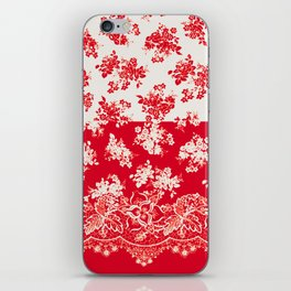 small bouquets in bright red with border iPhone Skin