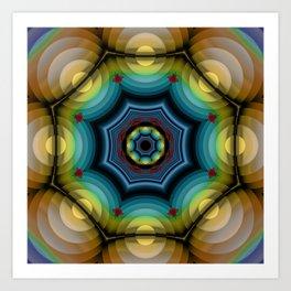big dots fractal madala Art Print