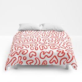 Wiggly Alphabet Pattern Comforters