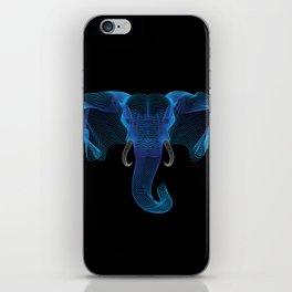 The Eloofah Elephant (Blue) iPhone Skin