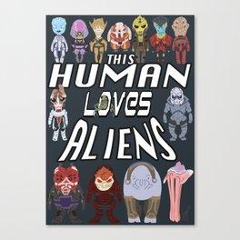 Aliens LOVE Canvas Print