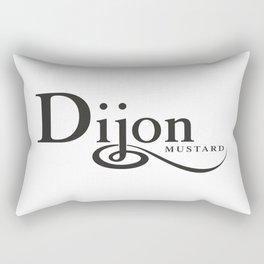 DIJON MUSTARD - taste for fashion Rectangular Pillow