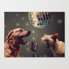 Household pet competition Canvas Print