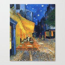 Cafe Terrace, (1888) Canvas Print