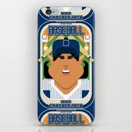 Baseball Blue Pinstripes - Deuce Crackerjack - Indie version iPhone Skin