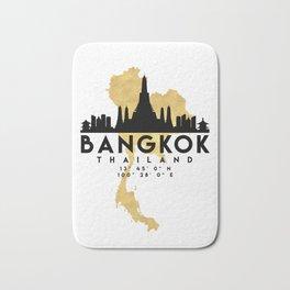 BANGKOK THAILAND SILHOUETTE SKYLINE MAP ART Bath Mat