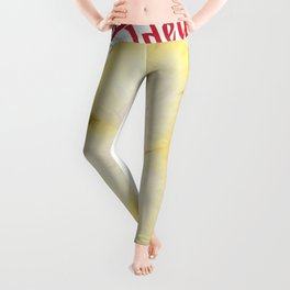 Unfolded By The Water Are The Faces Of The Flowers Leggings