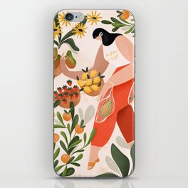 At the fruit market iPhone Skin