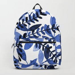 Watercolor branches - blue Backpack