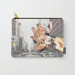 Selfie Giraffe in New York Carry-All Pouch