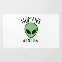 alien humans Rug