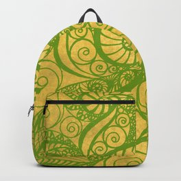 Green Shell Backpack
