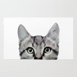 Cat, American Short hair, illustration original painting print Rug