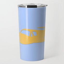 airplane illustration Travel Mug