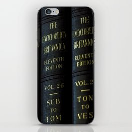 Encyclopedia Britannica 11th Edition iPhone Skin