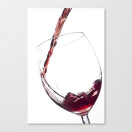 Elegant Red Wine Photo Canvas Print