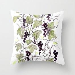 black currant Throw Pillow