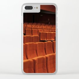 Cinema theater stage seats Clear iPhone Case