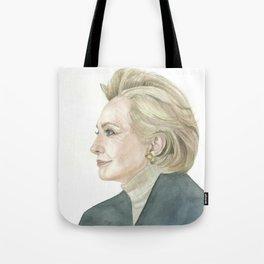 Portrait of Hillary Clinton Tote Bag