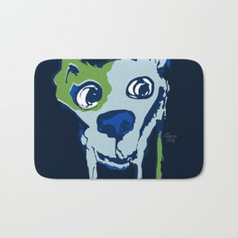 Anton - blue and lime Bath Mat