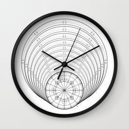 Black and white mystic universe Wall Clock