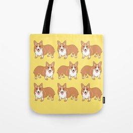 Happy Corgi Pattern Tote Bag