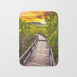 Mangrove Forest Sunset Bath Mat