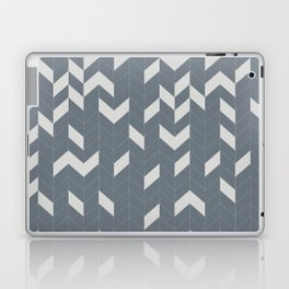 Grey and Grey Herringbone Laptop & iPad Skin