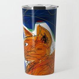 Socca Ginger Cat Art Travel Mug
