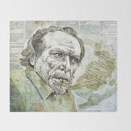 Charles Bukowski Throw Blanket