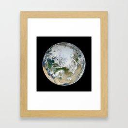 Blue Marble North Pole Framed Art Print